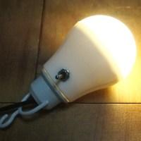 100均の電球型LEDライトをアウトドア用にDIYで改造しよう!