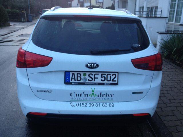 Cut-Mobil hinten