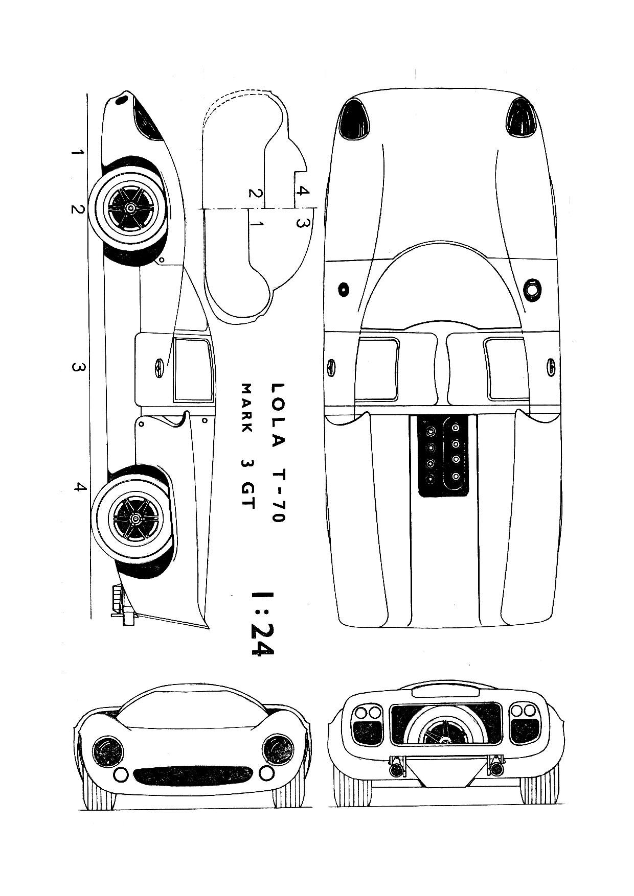 Lola T70 Blueprint