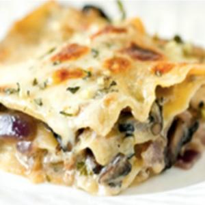 Lasagne Maison Végétarien Champignons