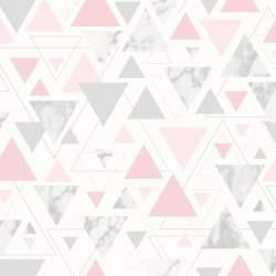 Debona Chantilly Triangles Wallpaper 5013 Pink/Grey