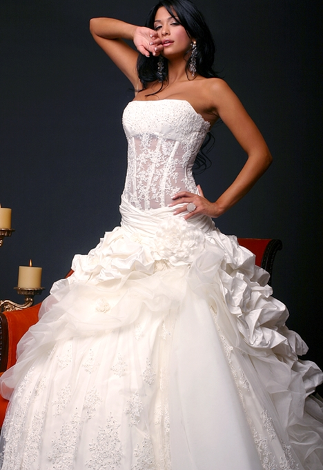 Most Beautifull Dress with Corset for Evening Party Wear 2013  cutstyle