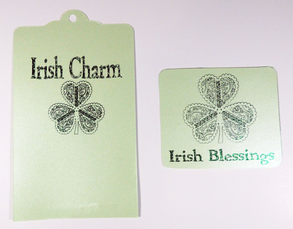 Irish Blessings Slider Popup Card Inside Foiled pieces