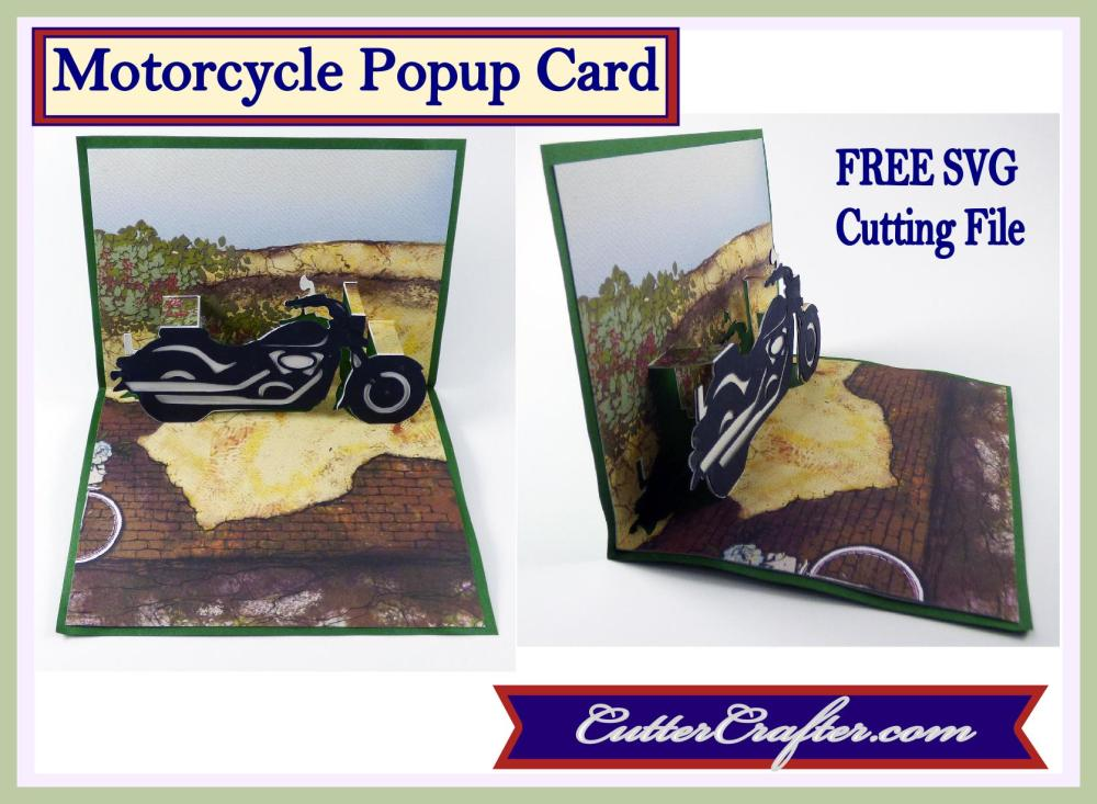 Motorcycle Popup Card Pin