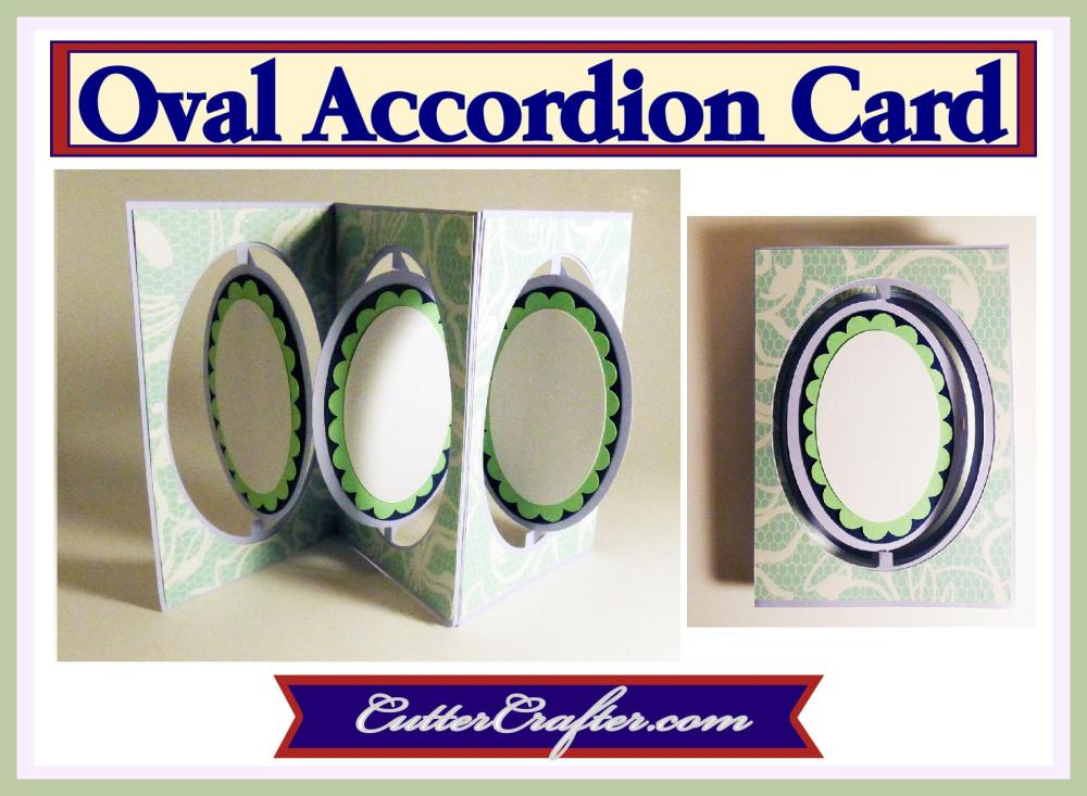 Oval Accordion Card