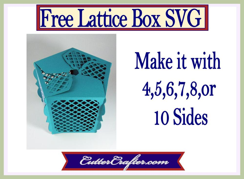 Multi-Sided Lattice Box Free SVG