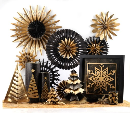 Christmas Black Gold Decoration