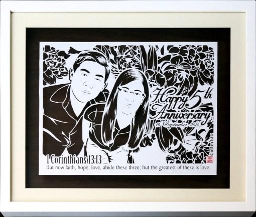 Cutteristic - Wedding Gift 5 Anniversary 5