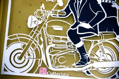 Cutteristic - Wedding Gift Merry Putrian Reggy Triumph Motorbike 3