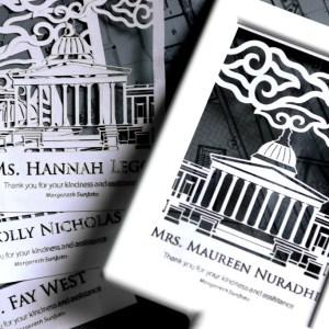 Souvenir eksklusif dan unik dari paper cutting kepada dosen pembimbing skripsi, tugas akhir