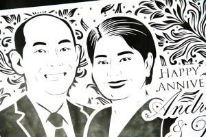 Sketsa wajah paper cutting untuk kado ulang tahun pernikahan/anniversary unik & eksklusif kepada sahabat, orang tua, teman kerja/kolega