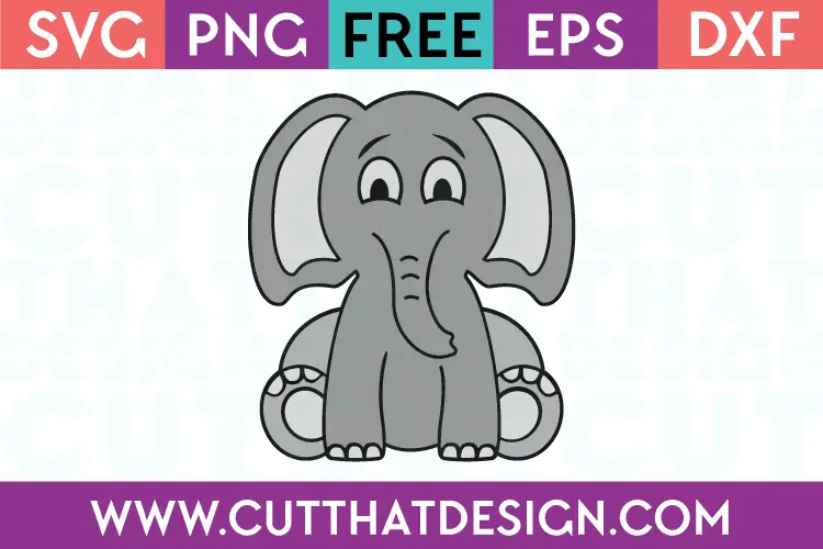 Download Free SVG Files | Cute Baby Elephant Cut That Design