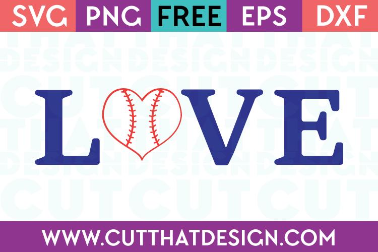 Download Free SVG Files | Baseball Love Design 2 Cut That Design