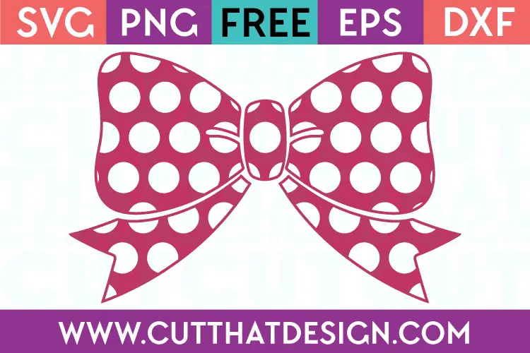 Download Free SVG Files | Polka Dot Bow Design Cut That Design