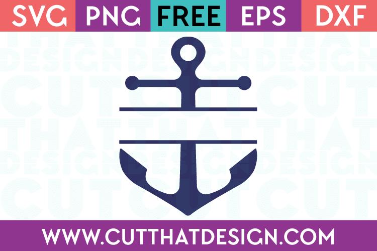 Download Free SVG Files | Free SVG Anchor Split Monogram Design Cut ...