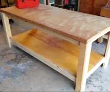 Build Garage Workbench Diy Project Cut Wood