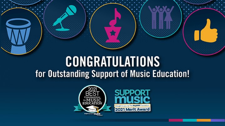 Congratulations to recipients of the 2021 Best Communities for Music Education
