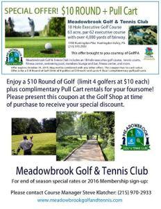 Meadowbrook $10 Golf