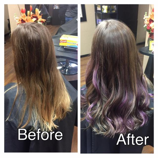 Cutting Edge Salon Foley MN before and after color