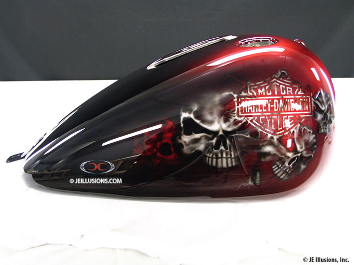 Skulls and Scorpions Harley Heritage Softail  Custom