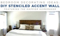 Bedroom Decorating Ideas: DIY Stenciled Accent Wall