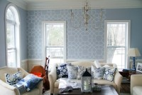 A Coco Trellis Stenciled Living Room