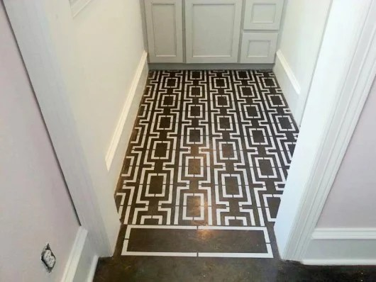 Patterned Floors Stenciled To Perfection Stencil Stories