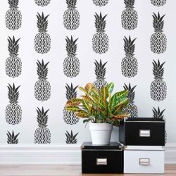 pineapple stencil stencils wall cute decor using hack pattern designs tropical hometalk insanely reasons patterns easy painting fruit simple paint