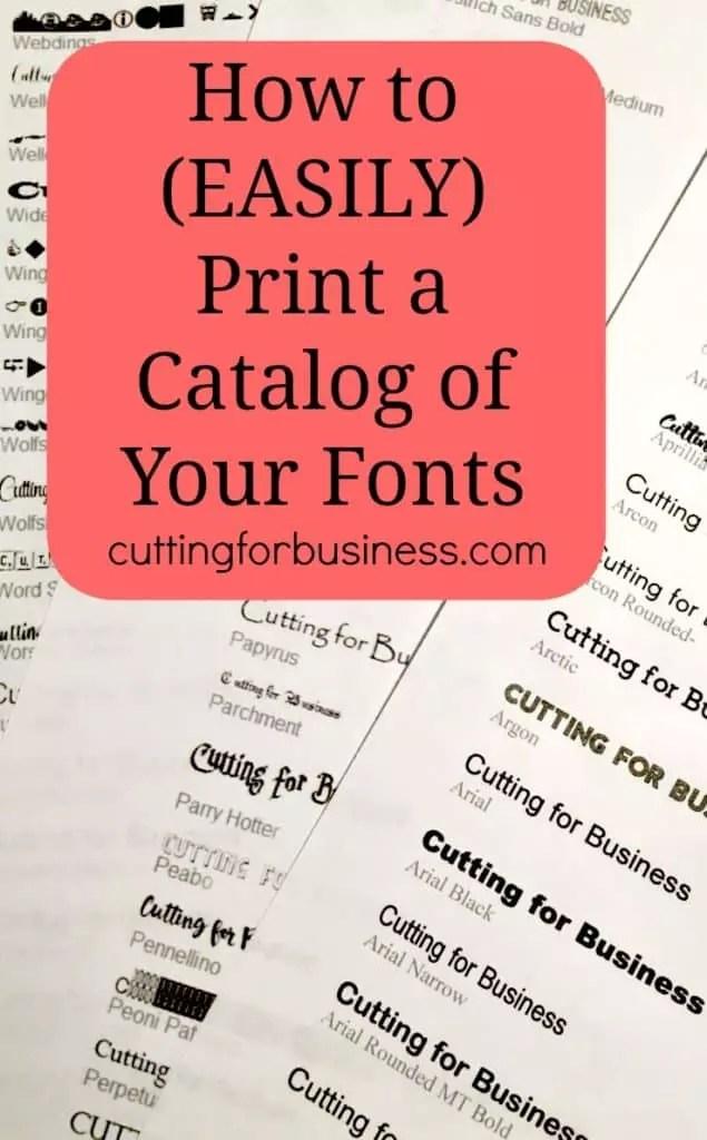 Cricut Font List : cricut, Easily, Print, Catalog, Fonts, Cutting, Business
