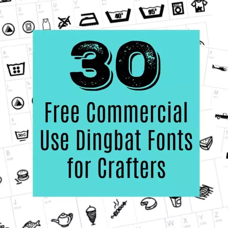 Download 30 Free Commercial Use Dingbat Fonts for Crafters ...