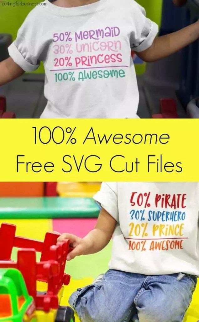 Download Free 100% Awesome Kids SVG Cut File Set - Cutting for Business