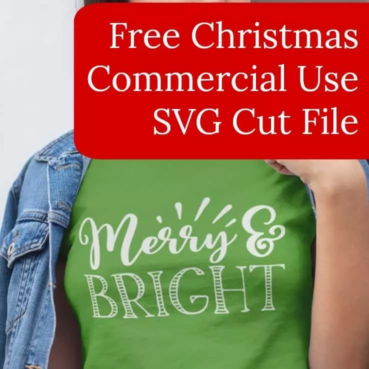 Download Free 'Merry & Bright' Christmas SVG Cut File - Cutting for ...