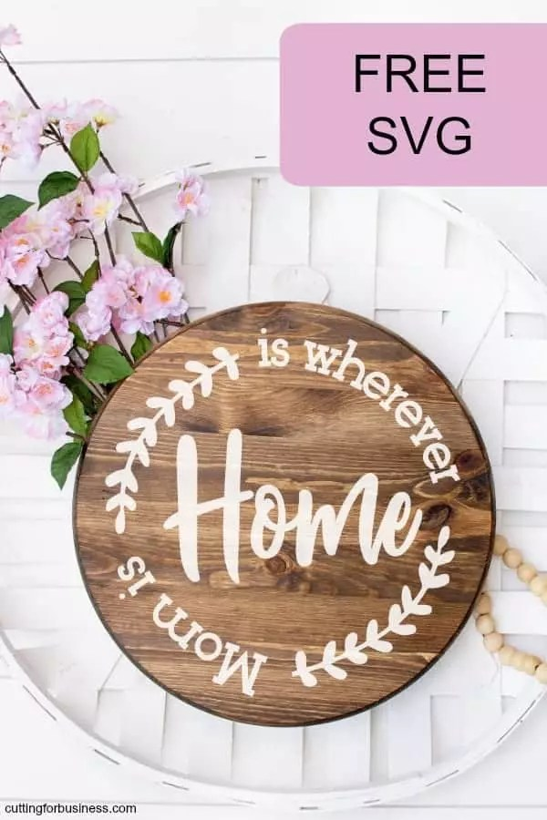 Mother's Day Svg : mother's, 'Home, Wherever, Mother's, Cutting, Business