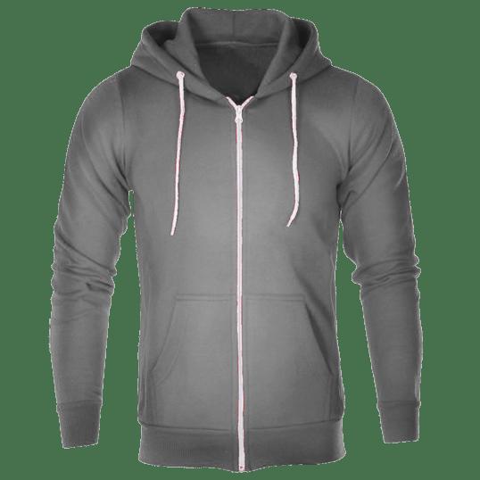 b5c321282c335a Plain Dark Gray Hoodie Jacket with zipper – Cutton Garments