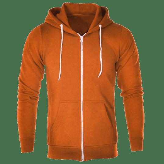 a09bc5361 Plain Tangerine Hoodie Jacket with zipper – Cutton Garments