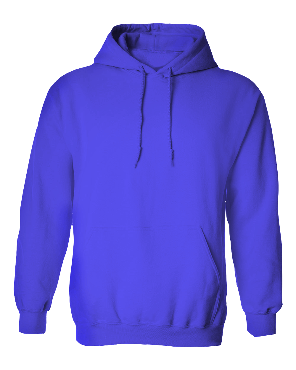 Royal Blue Hoodie Jacket without Zipper - Cutton Garments