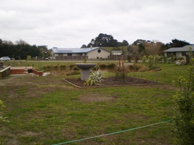 The final product - ponds and gardens in the completed site
