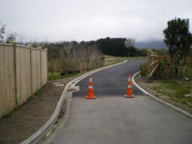 Constructing the right of way for the subdivision