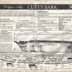 Uss Constitution Rigging Diagram 70cc Pit Bike Wiring The Cutty Sark Instruction Sheets Revell 1