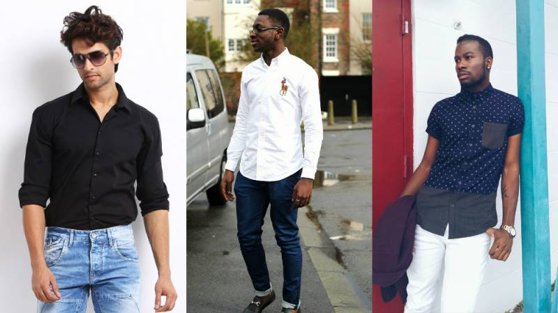 e06bd0a63c9f Ako naplniť košeľu v džínsoch. Typy pánskych košieľ na type strihu a ...