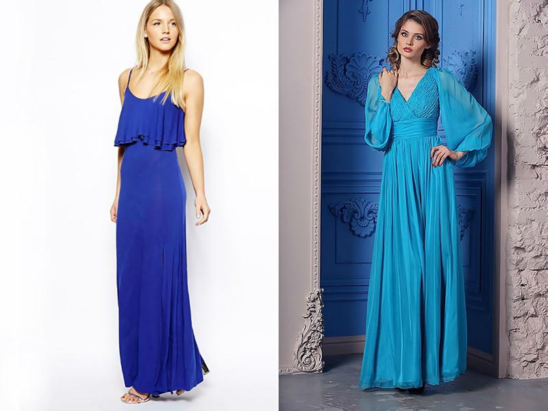 vad passar till marinblå klänning
