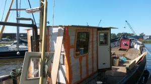 Opbouw Stuurhut, het dak