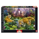Cuy Games - 500 PIEZAS - TIGRES EN EL ANTIGUO ARROYO -
