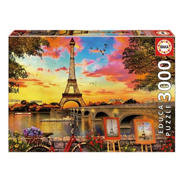 3000 PIEZAS – PUESTA DE SOL EN PARIS