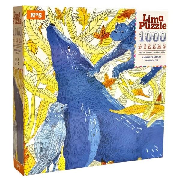 1000 PIEZAS – ANIMALES AZULES