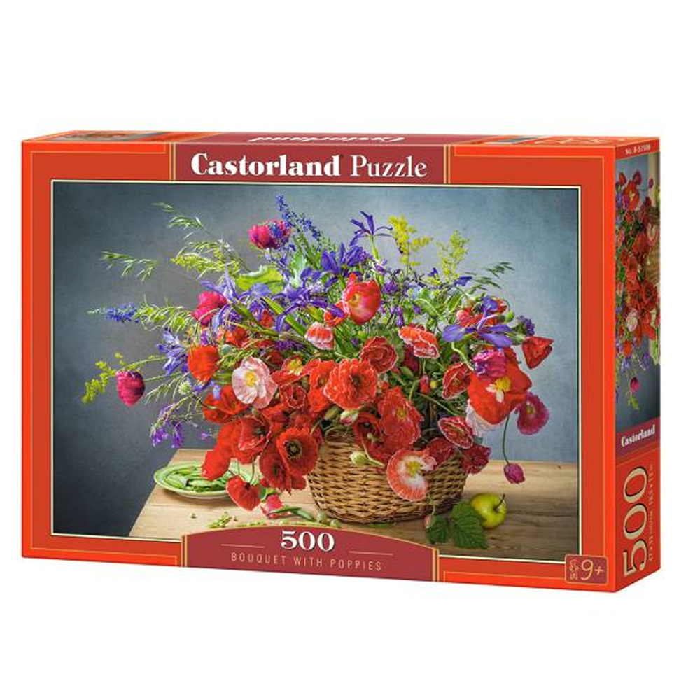 Cuy Games - 500 PIEZAS - BOUQUET WITH POPPIES -