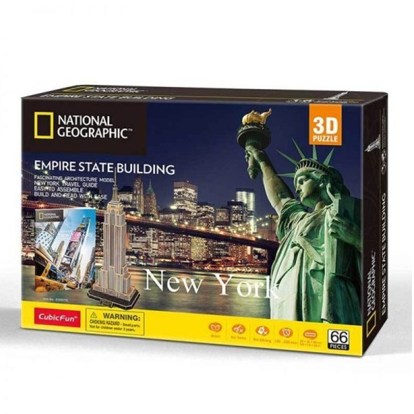 Cuy Games - CF- 66 PIEZAS - EMPIRE STATE BUILDING NATIONAL GEOGRAPHIC -