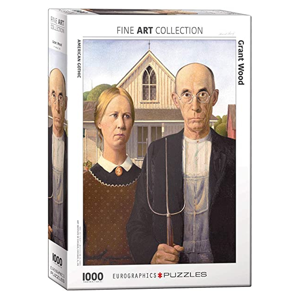Cuy Games - 1000 PIEZAS - AMERICAN GOTHIC BY GRANT WOOD -