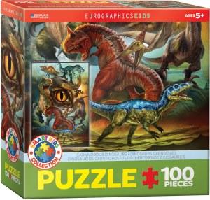 Cuy Games - INFANTIL - 100 PIEZAS - DINOSAURIOS CARNIVORES -
