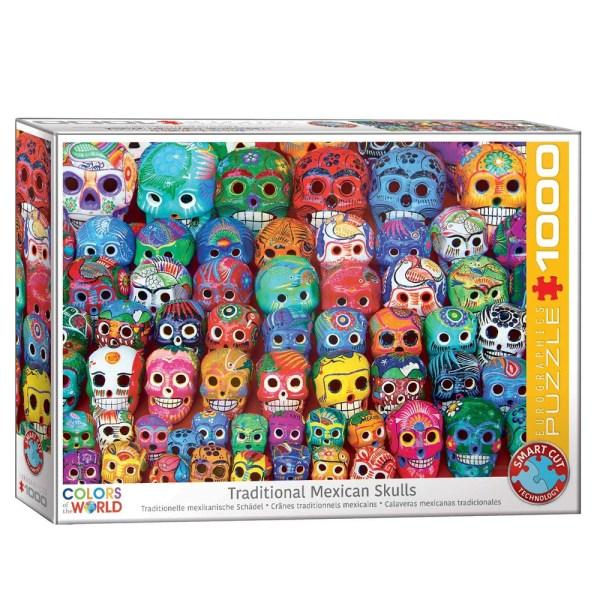 Cuy Games - 1000 PIEZAS - TRADITIONAL MEXICAN SKULLS -